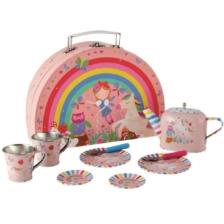 Floss and Rock Rainbow Fairy Tin Tea Set 10 Pieces