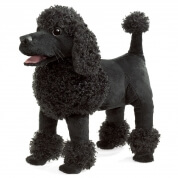 Folkmanis Black Poodle Hand Puppet