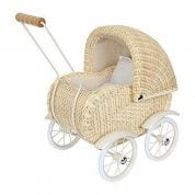 German Blonde Wicker Dolls Pram