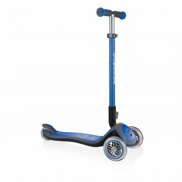 Globber Elite Deluxe Navy Blue 3 Wheel Scooter