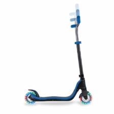 Globber Flow 125 Lights 2 Wheel Scooter Black Blue