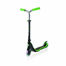 Globber Flow 125 Lights Scooter Black Green