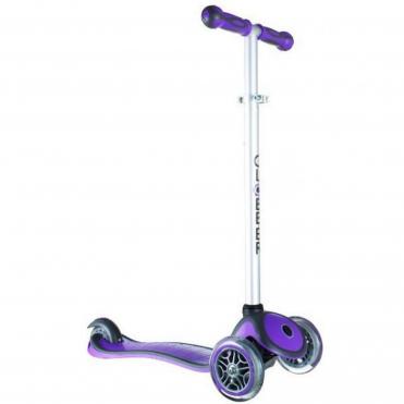 Globber Scooter 3 Wheel Kids Scooter Purple