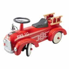 Goki Red Fire Engine Push Ride On