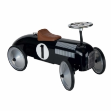 Goki Ride On Car Black With Steerable Wheels