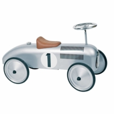 Goki Ride On Car Silver With Steerable Wheels