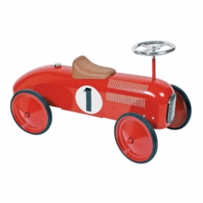 Goki Ride On Red Car With Steerable Wheels