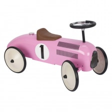 Goki Ride on Car Pink With Steerable Wheels