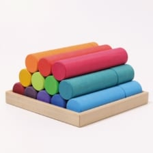 Grimm's Large Building Rollers Rainbow