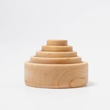 Grimm's Natural Wooden Stacking Bowls