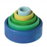 Grimm's Stacking Bowls Ocean Blue
