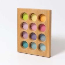 Grimm's Wooden Sorting Board Pastel