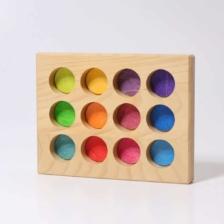 Grimm's Wooden Sorting Board Rainbow