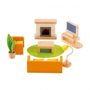 Hape All Seasons Dollhouse Family Media Room