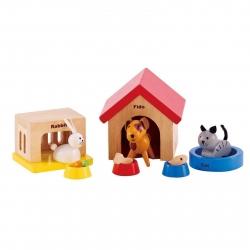 Hape All Seasons Dollhouse Family Pet Set