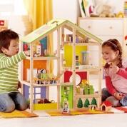 Hape All Seasons Dolls House Furnished Bundle