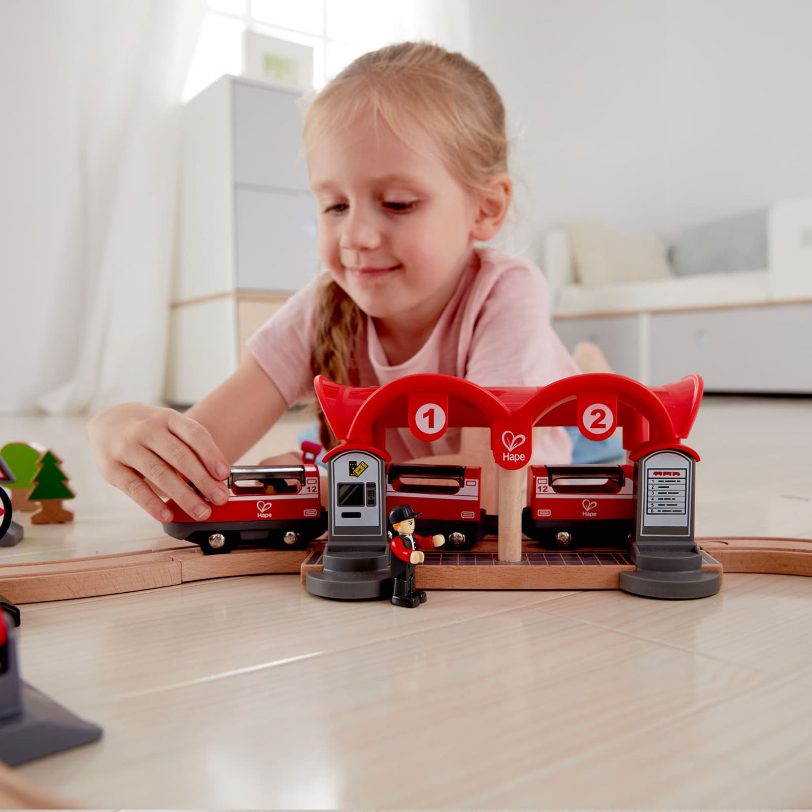 Hape Busy City Rail Train Set Jadrem Toys