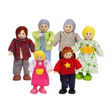 Hape Dolls House Wooden Family Set of 6