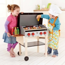 Hape Gourmet Grill BBQ with Food