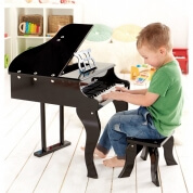 Hape Grand Piano with Stool Black
