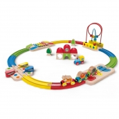 Hape Rainbow Route Railway and Station Set 30 Pieces