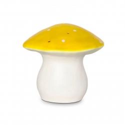 Heico Nightlight Lamp Medium Mushroom Toadstool Yellow