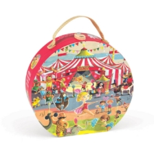 Janod Circus Suitcase Puzzle 54 Pieces