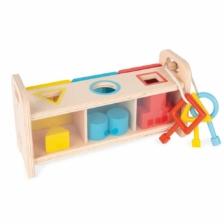 Janod Essentials Shape Box with Keys