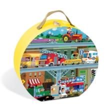 Janod Vehicles Suitcase Puzzle 100 Pieces