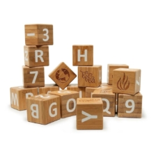 Kinderfeets Bamboo ABC Blocks