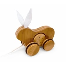Kinderfeets Bamboo Push and Pull Toy Rabbit