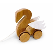 Kinderfeets Bamboo Push and Pull Toy Swan