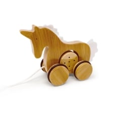 Kinderfeets Bamboo Push and Pull Toy Unicorn