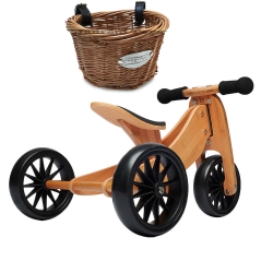 Kinderfeets Tiny Tot 2 in 1 Bamboo Bike with Basket