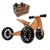 Kinderfeets Tiny Tot 2 in 1 Bamboo Bike with Crate