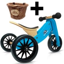 Kinderfeets Tiny Tot 2 in 1 Blue + Basket