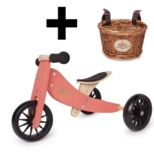Kinderfeets Tiny Tot 2 in 1 Coral Bike with Basket