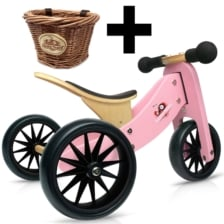 Kinderfeets Tiny Tot 2 in 1 Pink + Basket