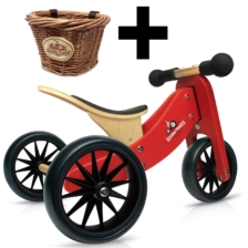 Kinderfeets Tiny Tot 2 in 1 Red Bike + Basket
