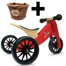 Kinderfeets Tiny Tot 2 in 1 Red Bike + Basket