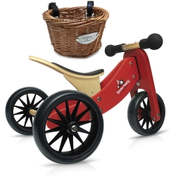 Kinderfeets Tiny Tot 2 in 1 Red Bike with Basket
