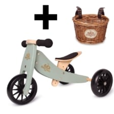 Kinderfeets Tiny Tot 2 in 1 Sage Bike with Basket