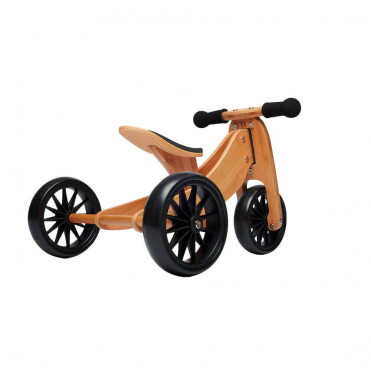 Kinderfeets Tiny Tot Bamboo Trike 2 in 1 Balance Bike