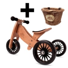 Kinderfeets Tiny Tot PLUS 2 in 1 Bamboo and Basket Bundle