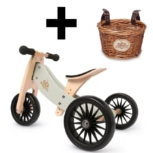 Kinderfeets Tiny Tot * PLUS * 2 in 1 Silver Sage and Basket