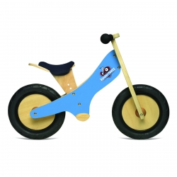 Kinderfeets Wooden Balance Bike Blue