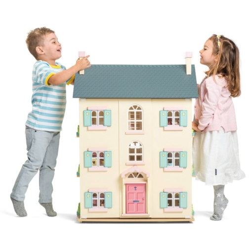 Le Toy Van Cherry Tree Hall Dolls House Bundled + Sugar Plum Furniture