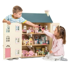 Le Toy Van Cherry Tree Hall Dolls House + Furniture