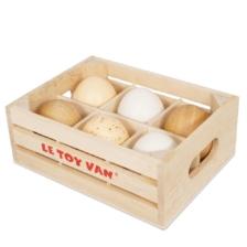 Le Toy Van Farm Eggs Half Dozen in Crate