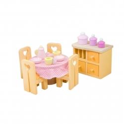 Le Toy Van Sugar Plum Dining Room Wooden Dolls House Furniture